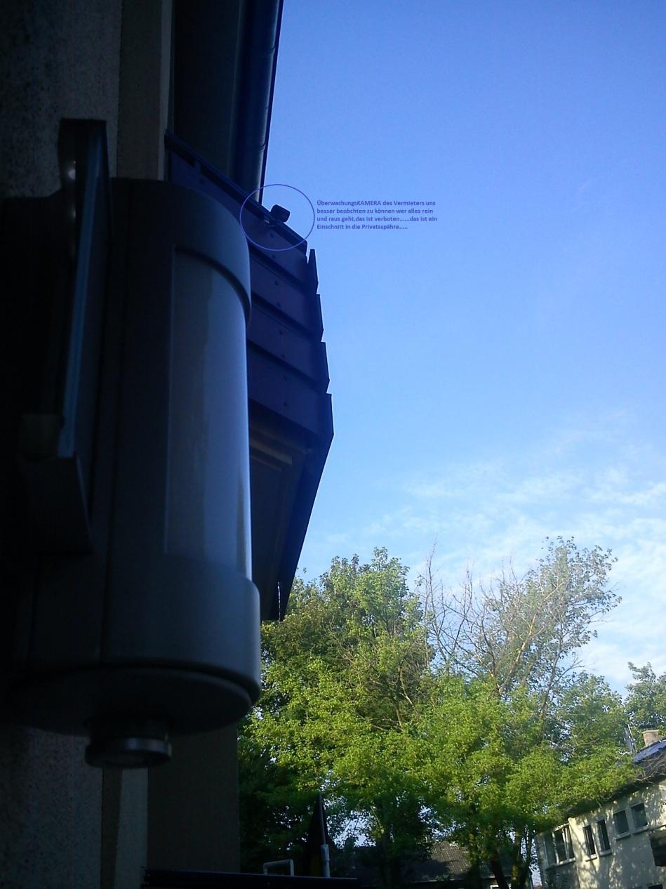ÜberwachungsKAMERAdesVERMIETERS